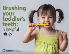 Brushing your toddlers teeth: 5 helpful hints - Tom's Strawberry Toothpaste. ADA approved and the best advice I ever got! Dental Health Month, Healthy Teeth, Baby Health, Everything Baby, Kids Corner, Raising Kids, Teaching Kids, Parenting Hacks, Baby Love