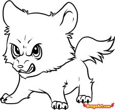 wolf draw drawing coloring cartoon easy baby pages step drawings cute chibi wolves jacob angry sketch anime pencil animal amazing