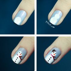 Cute Christmas DIY Nail Art Ideas. There's no way I'll be able to successfully accomplish this, but I will try!