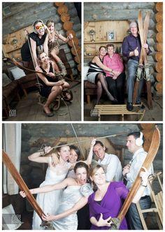 ski wedding photo booth