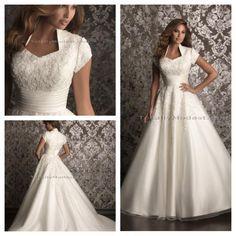 gorgeous modest wedding dress...