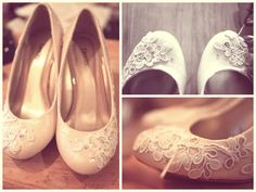 """Inspiration: add lace to pumps (figure out a """"pin on"""" to add/remove based on outfit)"""