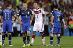 Pain: Javier Mascherano (second left) believes Argentina's players will never get over the. Argentina Players, World Cup Final, World Cup 2014, Get Over It, Finals, Believe, Football, Life, Soccer