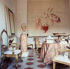 Cy Twombly's Rome house photographed by Horst P.Horst, 1966