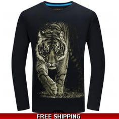 2018 Cheapest Fashion Men t-shirt long sleeve cool design funny t s – geekbuyig 3d T Shirts, Funny Tshirts, T-shirt Tigre, Cheap Mens Fashion, Fashion Men, T Shirt And Jeans, Shirt Men, Tee Shirt, Casual Tops