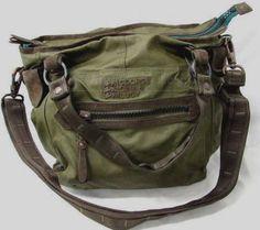 European designer George Gina Lucy Purse Shoulder Bag Dark Olive Suede Military #GeorgeGinaLucy #ShoulderBagMilitary