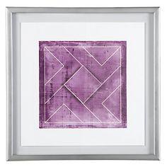 Geometric Float - Orchid | Framed Art | Art by Type | Art | Z Gallerie