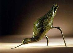 Bronze Water Birds/ Water Fowl/ Seabirds #sculpture by #sculptor Simon Gudgeon titled: 'Avocet' #art