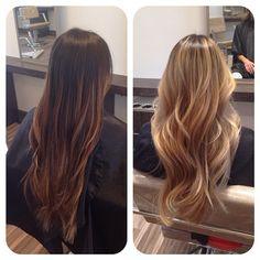 #nofilter talk about a transformation!! She wants Kim K blonde! - theonlyluke @ Instagram Web Interface - 5th village