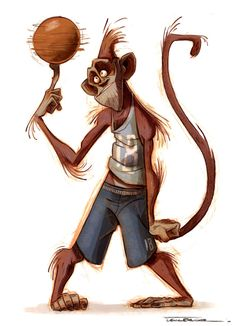 ArtStation - Monkey , Thibault LECLERCQ ★ Find more at http://www.pinterest.com/competing/