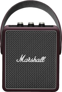 Marshall Stockwell II Burgundy, Portable Lautsprecher, STOCKWELL-II-BURGUNDY, Bluetooth Lautsprecher. Stockwell II wiegt nur 1,4 kg und bietet trotz In China, Marshall Stockwell, Bass, Software, Class D Amplifier, Marshall Speaker, Cool Things To Buy, Burgundy, Life