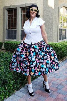 9f535de8aee66 Atomic Black Alice Rockabilly Skirt