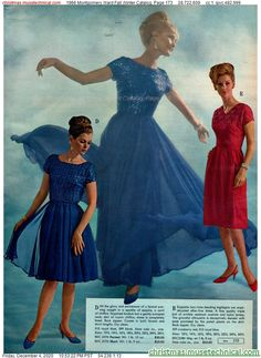 Vintage Dresses, 60s Dresses, Vintage Patterns, Sewing Patterns, Montgomery Ward, Christmas Catalogs, Couture Sewing, Fashion Marketing, Costume