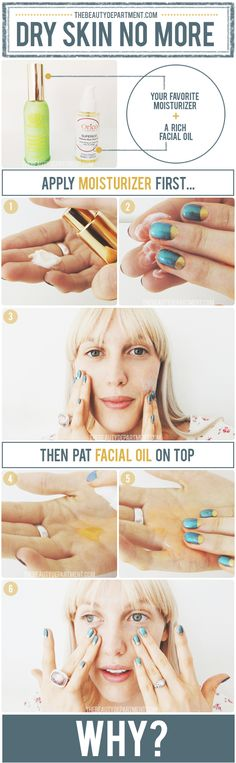 Don't be afraid of using facial oil! Click on the picture to find out why you apply it AFTER moisturizer and to hear our case on why it might even clear up acne!