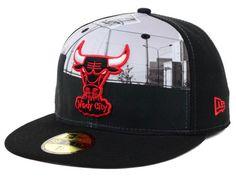 7a6a855f8ac Chicago Bulls New Era NBA Hardwood Classics Round D Way 59FIFTY Cap Hats  Chicago Bulls