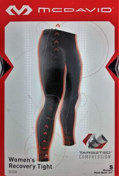 McDAVID WOMEN'S TARGETED COMPRESSION RECOVERY TIGHT PANT (SMALL/4-6) -- NEW #McDAVID #RECOVERYTIGHT