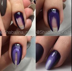 Nail polish rides and drying them is the nightmare of many of us. We have compiled the nail polish for you. Fancy Nails, Trendy Nails, Diy Nails, Glitter Nails, Nagel Hacks, Nagellack Trends, Super Nails, Purple Nails, Nagel Gel