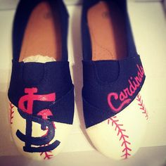 Custom hand painted shoes Etsy, $45.00  #cardinalnation