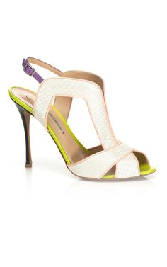 Nicholas Kirkwood Contrast Stiletto Heel Sandal