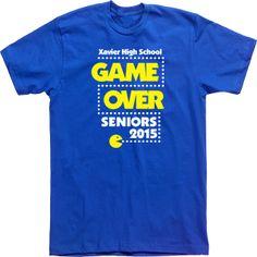 xavier high school game over  seniors pacman T-shirts Custom Tees