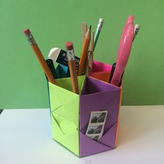 How To Make an Origami Pen Holder