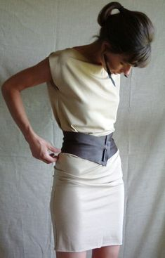 Demi-Corset Wide Leather Belt--Made to Measure: