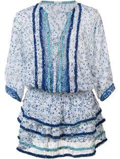 Poupette St Barth Printed Ruffle Dress, http://www.kirnazabete.com/just-in/drs-bibi-3-4-slv-mini-drs