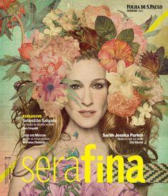 Sarah Jessica Parker, #Collage by Eduardo Recife, for Serafina cover