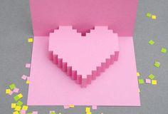 Fabriquez votre carte pop-up pour la St Valentin ! sur http://www.thetrendygirl.net