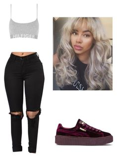 """""""My bitt bad and boujee"""" by beautyqueen-927 ❤ liked on Polyvore featuring Puma"""