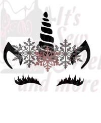 christmas unicorn   svg dxf and png files by ItsSewMel on Etsy