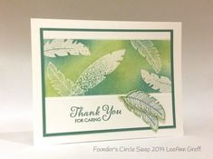 Stampin up stampin' up! stampinup stamping pretty mary fish four feathers These SU Four Feathers stamps and dies are too awesome!
