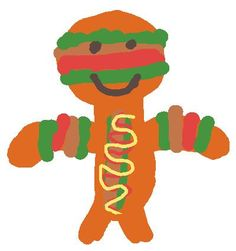 Look at this drawing from the DASM Epic 2 Art Gallery! Burger man