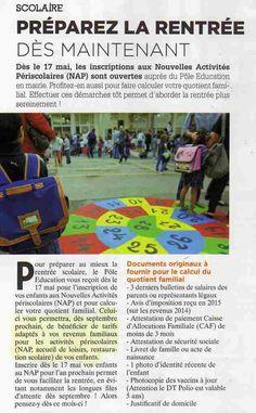 """Les NAP, les nouvelles activités périscolaires, devaient être gratuites. Goussainville, dans le dernier numéro de son journal, appellent les parents à s'inscrire dès le 17 mai, """"pour calculer... source la gazette du Val D Oise"""