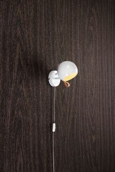 Features: Leather loop for adjusting the lamp head Protection class II Product Type: Wall Spotlight Dry, Damp or Wet Location Listed: Dry Shade Inclu Wall Spotlights, Door Handles, Stud Earrings, Leather, Type, Home Decor, Products, Lights, House Decorations