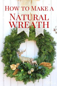 Easy to follow tutorial - How to make a Christmas wreath: