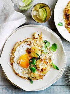 Fried Egg Dosa with Potato Curry...