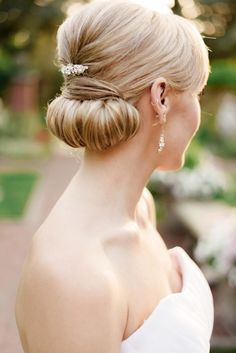 Chignon perfection: http://www.stylemepretty.com/washington-weddings/bellingham/2014/12/03/french-elegance-wedding-inspiration/ | Photography: Joe and Patience - http://joeandpatience.com/