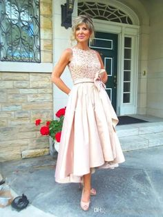 New Mother Of The Bride Dresses For Wedding Ruffles Bow Sequins Beades Bateau Cheap Hi Lo Women Evening Dresses 2017 Formal Gowns Mother Of The Groom Mother Of The Groom Outfits From Honey_qiao_shop, $112.57  Dhgate.Com