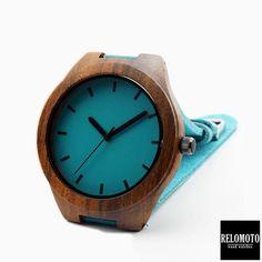Halili Ebony Blue Wood Watch - Relomoto