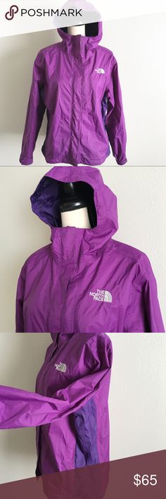 NORTHFACE JACKET NorthFace HyVent jacket with lining ~ zip and velcro closer ~ cinch bottom ~ EUC North Face Jackets & Coats