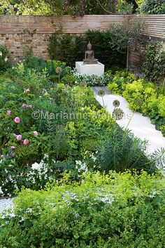 Family Garden in Putney | Urban family garden subdivided into separate spaces by walkways | Charlotte Rowe Garden Design