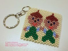 Beading for the very beginners: Keychain with Gemini (Zodiac sign)