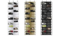Groupon - 26-Pocket Over-the-Door Shoe Organizer in Beige, Black, or White. Free Returns. in Online Deal. Groupon deal price: $17.99