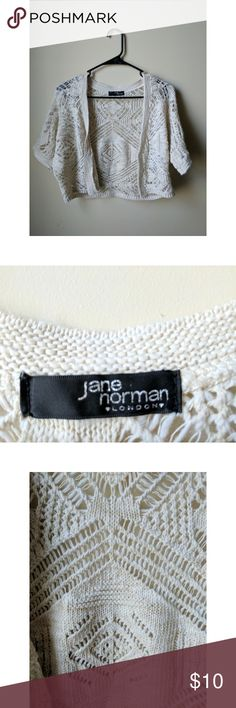 Jane Norman Cardigan Jane Norman Size 10 Cardigan  •Never worn-- no tags •Size 10 •Tan Colored Knit Cardigan •Bought for an occasion but ended up not wearing it Jane Norman  Sweaters Cardigans