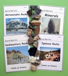 Rock & Mineral Identification course for 3rd - 6th graders. Students learn to identify books that come with each kit. Fun activities are included with each lesson. Books and video lessons by Myrna Martin.