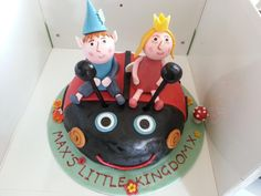 "My son's ""Ben and Holly"" 2nd Birthday cake"