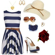 Yacht My style… I probably would wear navy blue and white every day if it was acceptable Nautical Outfits, Nautical Fashion, Nautical Party, Party Outfits For Women, Summer Outfits, Sailor Outfits, Yacht Party, Fru Fru, Boating Outfit