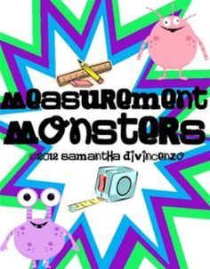Cute monster themed measurement FREEBIE and more!