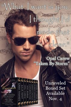 "Opal Carew ""Unraveled: 8 Delicious Tales of Passion"" available for sale November 4!"